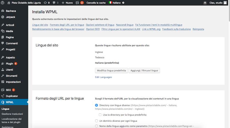 Creare e gestire un sito multilingua con WordPress